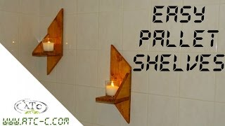 Easy pallet wood shelves for your bathroom // How to // DIY