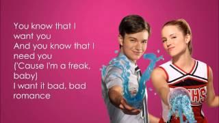 Glee - Bad Romance (Lyrics)