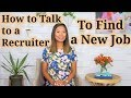 Download Video Download How to Talk to a Recruiter (or Headhunter) to Find a New Job 3GP MP4 FLV