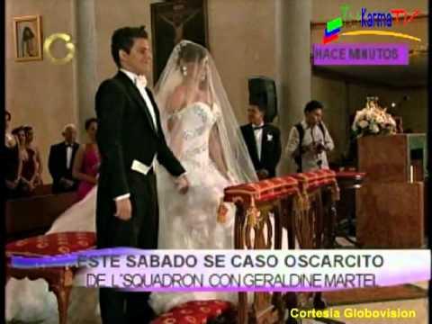 Matrimonio de Oscarcito del disuelto grupo LSQUADRON y Geraldine Martel