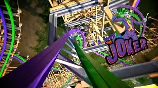 The Joker Roller Coaster Full POV Six Flags Discovery Kingdom 2016