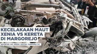 Kecelakaan Maut Xenia VS Kereta di Margorejo