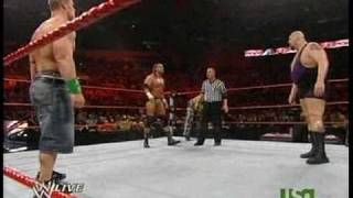 EPIC Triple Threat Tag Match- DX vs. JeriShow vs. John Cena and The Undertaker