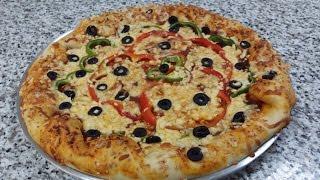 طريقة عمل البيتزا المحشية  - المطبخ العربي