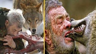 هذا الرجل يعيش مع الذئاب المفترسة ويشاركها الطعام منذ 40 عاما فما قصته ؟