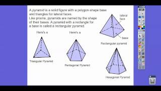 Three Dimensional Figures and Nets - Lesson 11.1