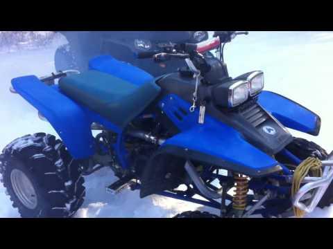 Yamaha Warrior YFM 350 Winter Cold Start! -10