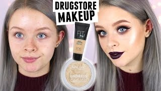 FULL FACE DRUGSTORE MAKEUP FIRST IMPRESSIONS | sophdoesnails