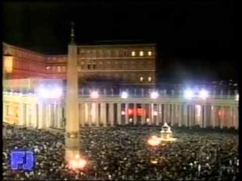Anúncio do falecimento do Papa João Paulo II