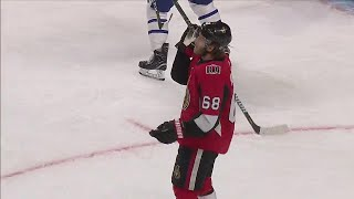 Gotta See It: Hoffman tosses stick in air in frustration, scores seconds later