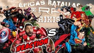 Vengadores vs Liga de la Justicia. Épicas Batallas de Rap del Frikismo   Keyblade   Video Reaccion