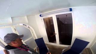 Carnival Pride 8223 8H Extended Balcony during storm