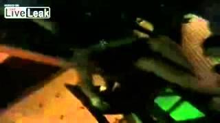 Drunk girl falls off chair at bar! (Really funny)