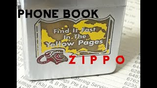 Vintage Zippo Lighter- 1959 Yellow Pages Advertisement 旧芝宝打火机,黄页广告图案 ヴィンテージライター