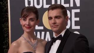 Alison Brie & Dave Franco Golden Globe Awards Fashion Arrivals (2018)