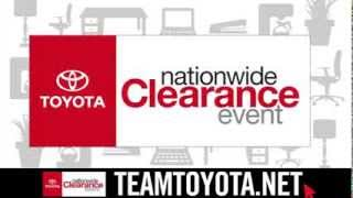 Team Toyota Langhorne PA - Nation Wide Clearance Event