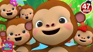 Five Little Monkeys Jumping on the Bed 2 | + More Nursery Rhymes & Kids Songs - ABCkidTV