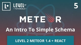 Level 2 Meteor + React #5 - An Intro To Simple Schema