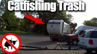 Bass Fishing PowerBait Craws with CATFISHING TRASH all over!