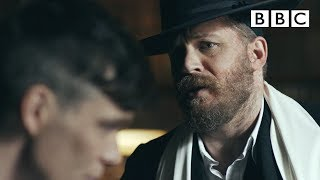 Alfie Solomons (Tom Hardy) confronts Tommy - Peaky Blinders: Series 3 Episode 5 - BBC Two