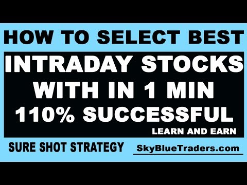 Xxx Mp4 How To Select INTRADAY STOCKS With In 1 Minute Sure Shot Strategy By Investment Advisor 3gp Sex