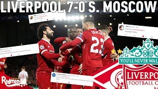 Liverpool v Spartak Moscow 7-0 | Twitter Reactions