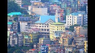 Southern area of Aizawl hill city (Mizoram)