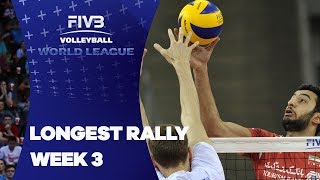 FIVB World League: Longest Rally of Week 3
