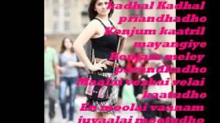 Engeyum Kathal-Nenjil Nenjil with lyrics
