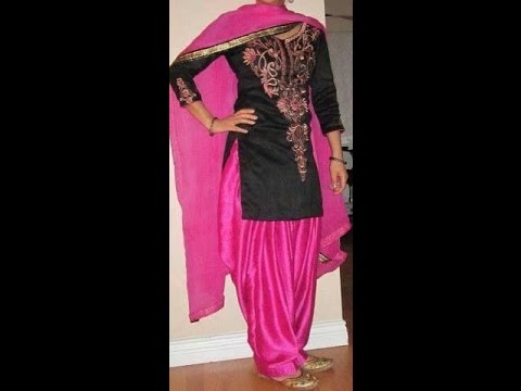 HOW TO CUTTING AND SWEING PUNJABI EMBROIDERY LADEIS SUITE SALWAR