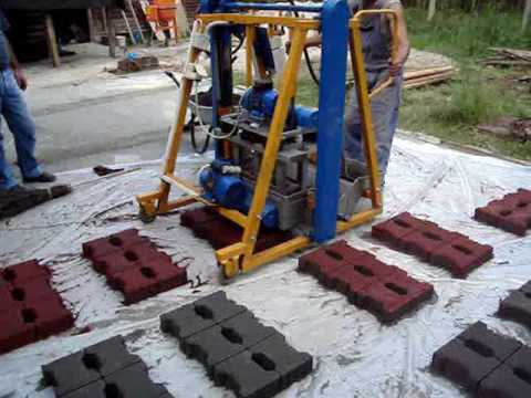 Vibropresa pentru fabricat pavele boltari borduri jardin