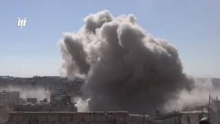 كاميرا نبأ ترصد عن قرب لحظة سقوط صواريخ الفيل في درعا البلد بمدينة درعا