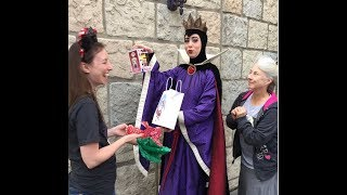 GIVING GIFTS to Disney Characters!!! Watch their RESPONSES! They are all thankful EXCEPT GASTON!