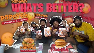 WHATS BETTER?! POPEYES OR CHICK FIL A CHICKEN SANDWICH? (Frost Family Mukbang)