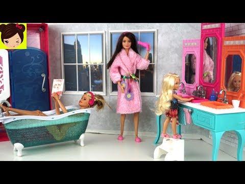 Xxx Mp4 Rutina De Noche En Casa De Barbie Y Sus Hermanas Barbie Dormitorio Y Baño Juguetes De Titi 3gp Sex
