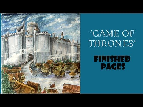 'Game of Thrones' Coloring book. Finished pages review.