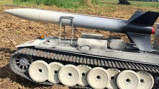 DER TANK remote controlled rc tank with rocket launcher Panzer Rakete