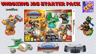 UNBOXING Skylanders SuperChargers Racing 3DS Starter Pack with Hammer Slam Bowser Clown Cruiser