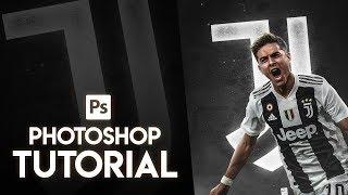 Photoshop Tutorial- Neon Football Poster Design Tutorial - GraphicsD Design