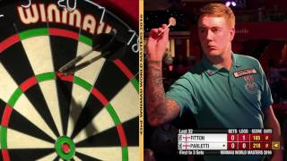 Darts World Masters 2016 Last 32 Fitton vs Parletti