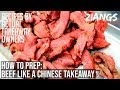 Ziangs: How to prepare beef like a Chinese Takeaway