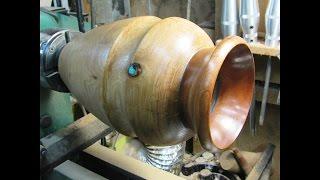 #127 Woodturning a Live Flower Vase Part 1