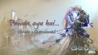 sawan aaya hai instrumental karaoke with lyrics