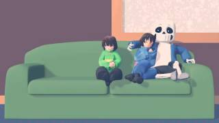 MMD Chara wants sleep with frisk and sans...