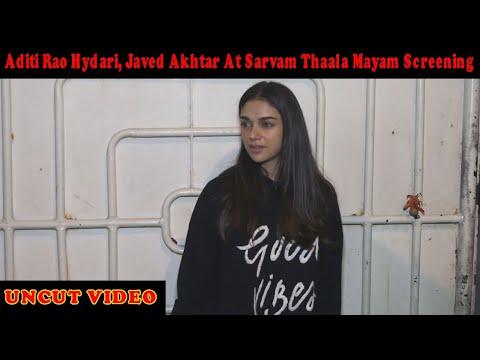 Xxx Mp4 Aditi Rao Hydari Javed Akhtar At Sarvam Thaala Mayam Screening 3gp Sex