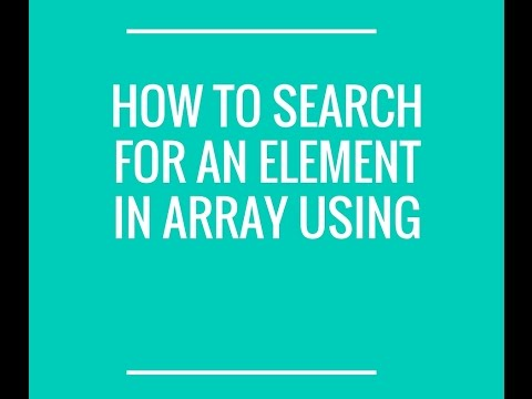 How to search for an element in array in java ?