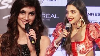 Deepika Padukone blushes when told about Kriti Sanon