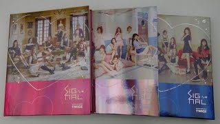 Unboxing TWICE 트와이스 4th Mini Album SIGNAL [All Editions: A (Red), B (Pink) & C (Blue)]
