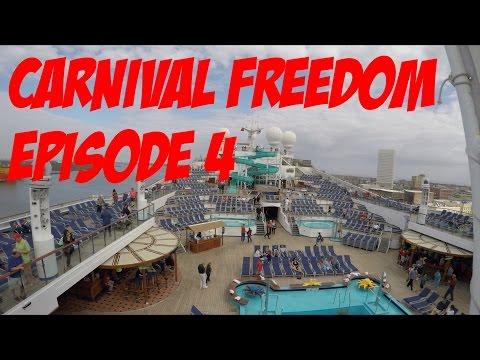 Carnival Freedom Cruise Episode 4 - Sea Day & Galveston