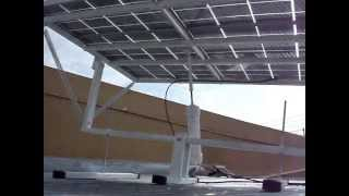 How to build a solar tracker. DIY solar panel sun tracker.